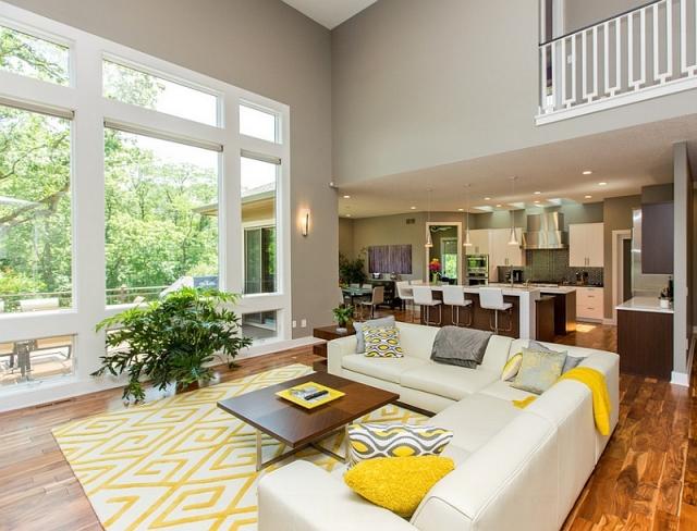 Graues Wohnzimmer Akzente Beeindruckend On überall Grau Und Gelb Im Ein Hauch Von Sommer 4