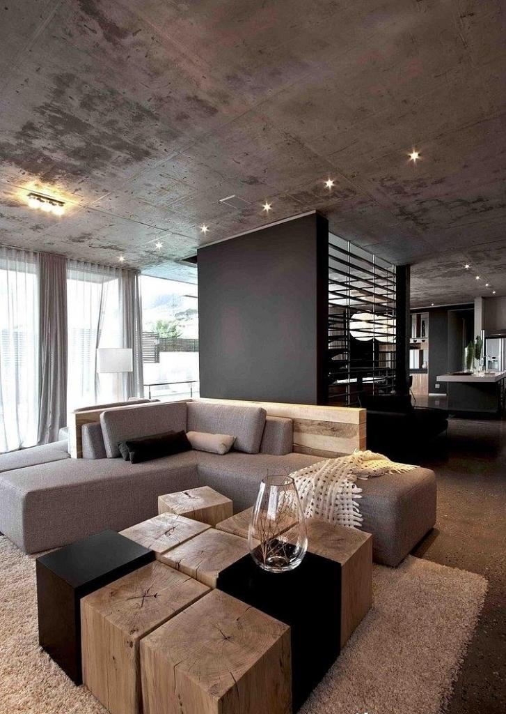 Graues Wohnzimmer Akzente Unglaublich On Beabsichtigt Wohndesign 6