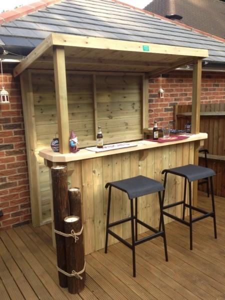Ideen Bar Bauen Imposing On Auf Garten Selber FresHouse 9