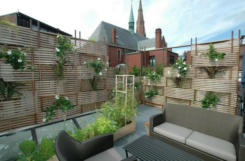 Ideen Sichtschutz Aus Holz Großartig On Mit 26 Für Balkon Verschiedene 6