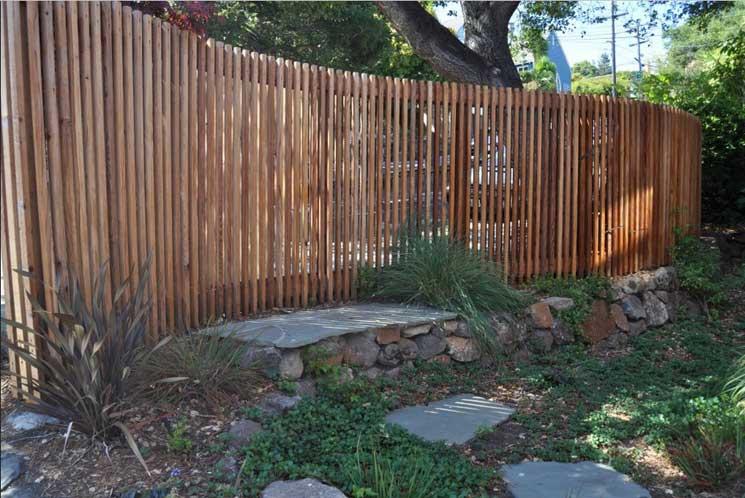 Ideen Sichtschutz Aus Holz Stilvoll On Für Holzzäune Coole Den Garten Mit Geschwungene Gartenzaun 1