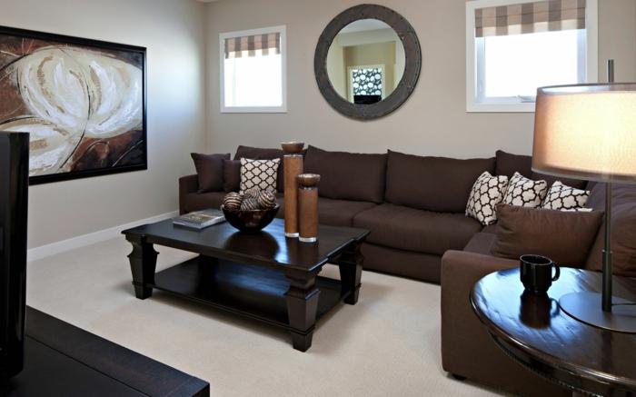 Ideen Wohnzimmer Braune Couch Ausgezeichnet On Braun Auf Fotos Finden Sie Ihre Wohnung 4