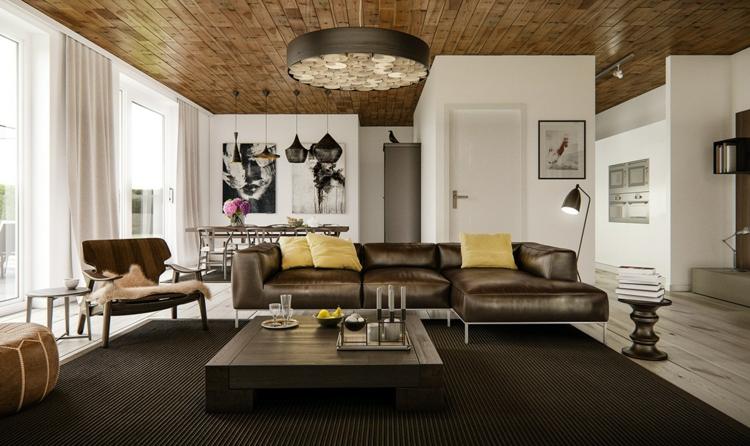 Ideen Wohnzimmer Braune Couch Bescheiden On Braun Innerhalb Mit Brauner Für Ein Angesagtes Interieur 1