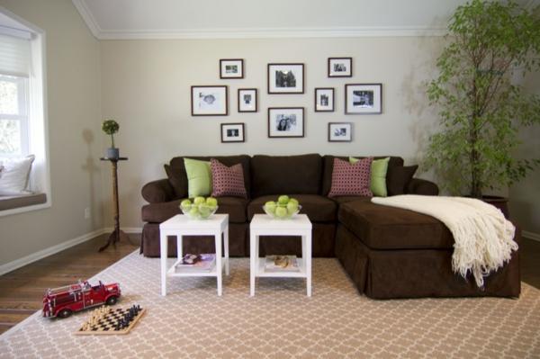 Ideen Wohnzimmer Braune Couch Erstaunlich On Braun Auf Braunes Sofa Wandfarbe Wohndesign 6