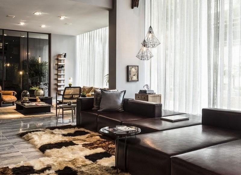 Ideen Wohnzimmer Braune Couch Frisch On Braun Und In Beige Einrichten 55 Wohnideen 7