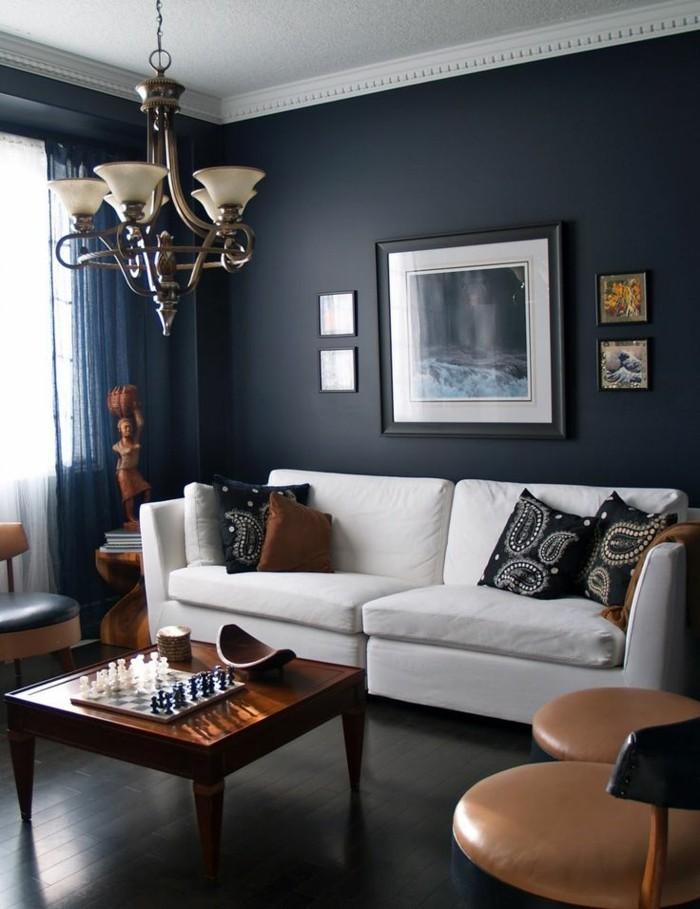 Kleines Wohnzimmer Farbe Ausgezeichnet On Innerhalb Die Wunderschöne Und Effektvolle Wandfarbe Petrol Archzine Net 4