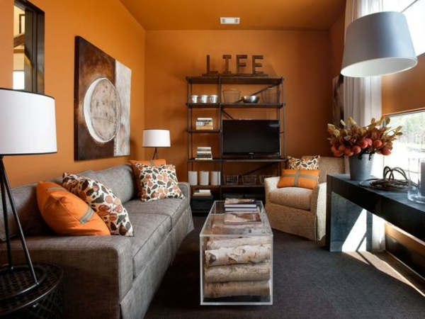 Kleines Wohnzimmer Farbe