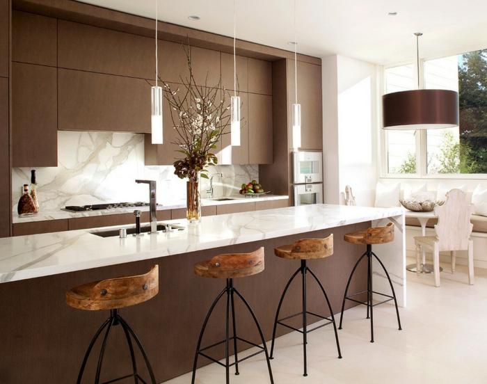 Küche Landhausstil Modern Braun Interessant On Innerhalb Beautiful Weiß Contemporary House Design Ideas 6
