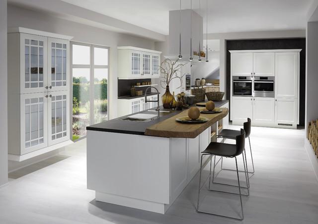 Küche Mit Kochinsel Modern Wunderbar On Innerhalb Weisse Wohnküche Großer 7