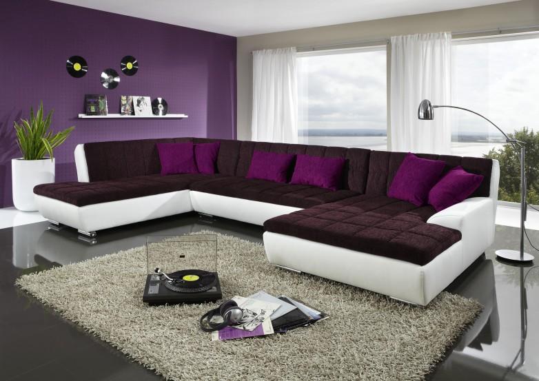 Lila Schwarz Wohnzimmer Beeindruckend On überall Beautiful Moderne Wandgestaltung Pictures House 7