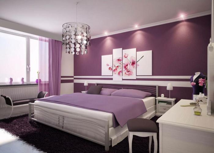 Lila Tapete Schlafzimmer Ausgezeichnet On überall Cabiralan Com 1