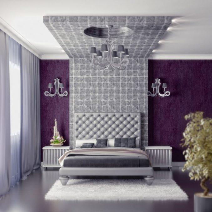 Lila Tapete Schlafzimmer Interessant On Innerhalb Uncategorized Uncategorizeds 8