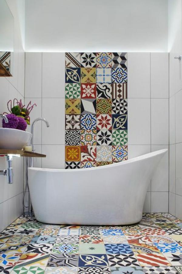 Mediterrane Badezimmer Fliesen Bunt Fein On Für Wie Sie Ihr Bad Im Mediterranen Stil Gestalten 2