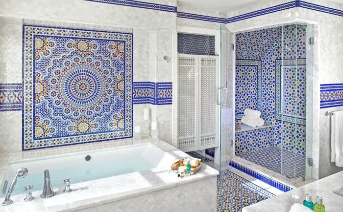 Mediterrane Badezimmer Fliesen Bunt Stilvoll On Innerhalb Mediterran Webnside Com 7