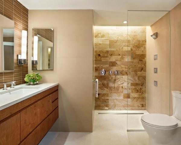 Moderne Badezimmer Fliesen Beige Fein On In Bezug Auf Hypnotisierend Bad 5