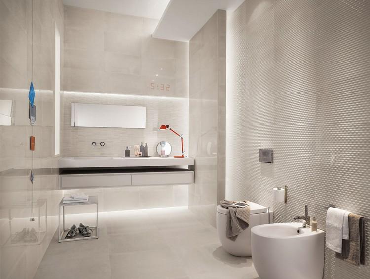Moderne Badezimmer Fliesen Beige Kreativ On In Bezug Auf Badoase Neutralen Farben 7