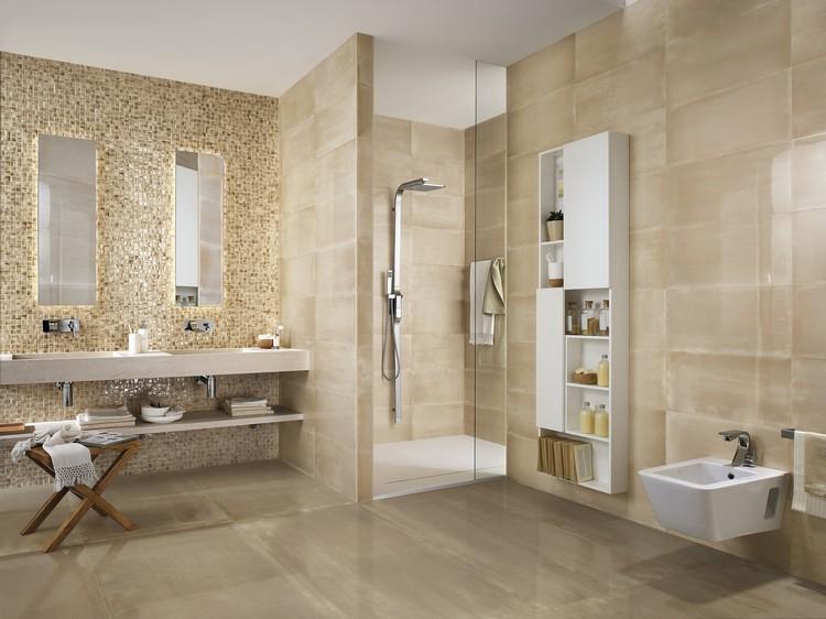 Moderne Badezimmer Fliesen Beige Stilvoll On Auf Cool Innenarchitektur Patio Y Wandfliesen Bad 8