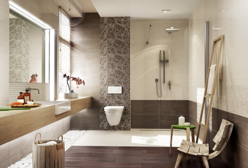 Moderne Badezimmer Fliesen Beige Stilvoll On In Bezug Auf Schmuck Braun Übernehmen 2