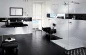 Moderne Badezimmer Schwarz Weiss