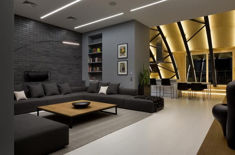 Moderne Farbe Für Wohnzimmer Bescheiden On Modern Und Anthrazit In Moderner 8