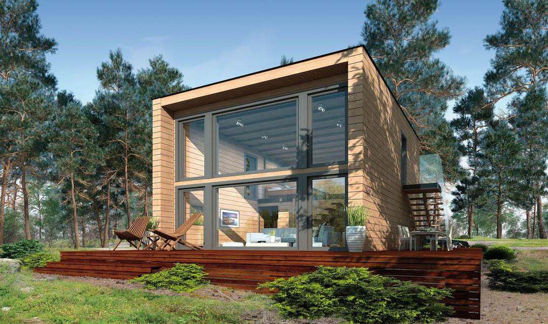 Moderne Gartenhäuser Zum Wohnen Glänzend On Modern In Ferienhaus KuBu Kleinhaus Bauen Pinterest Ferienhäuschen 1