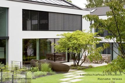 Moderner Garten Mit Gräsern