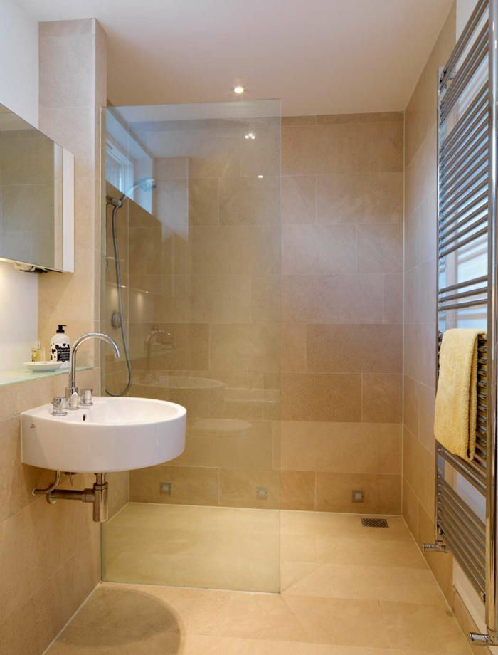 Modernes Bad Weiss Beige Bescheiden On Innerhalb Kleine Badezimmer Einrichten 30 Ideen Für 2