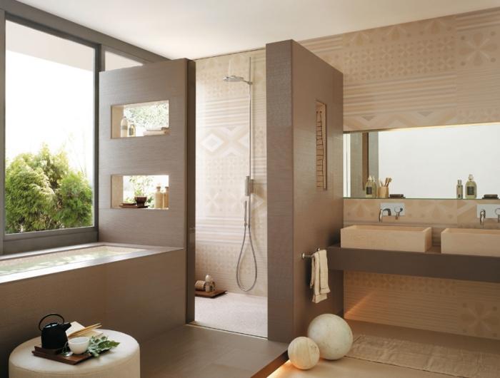 Modernes Badezimmer Modern On Beabsichtigt Ideen Für Ein Design Mit Praktischen Fliesen 5