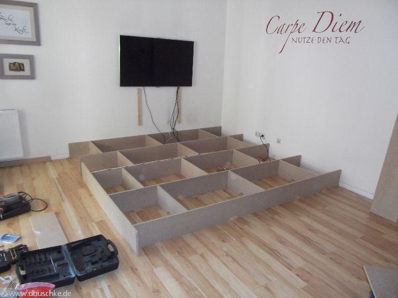 Podest Für Wohnzimmer Zeitgenössisch On Auf Selber Bauen Bauanleitung Mit Bildern Und Maße 9