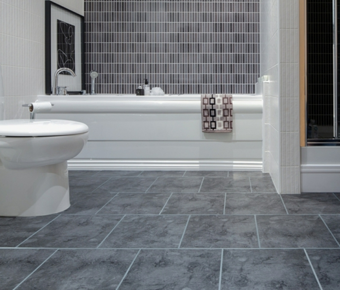 Pvc Boden Ideen Bad Modern On Und Am Badezimmer Muster Besten Büro 5