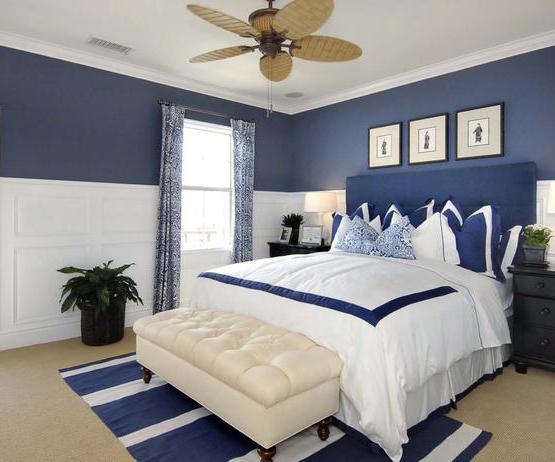Schlafzimmer Blau Beige Bescheiden On In Gestalten Weiß Und Weißer Lederhocker 5