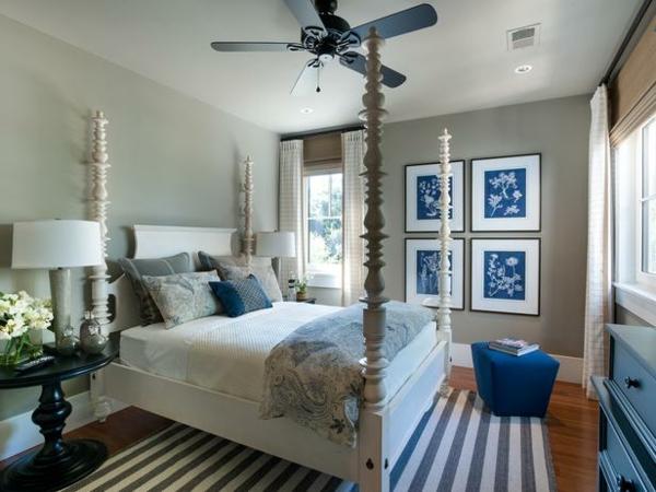 Schlafzimmer Blau Beige Einfach On überall Kreative Wandgestaltung Im Trendige Farben Dekoideen 3