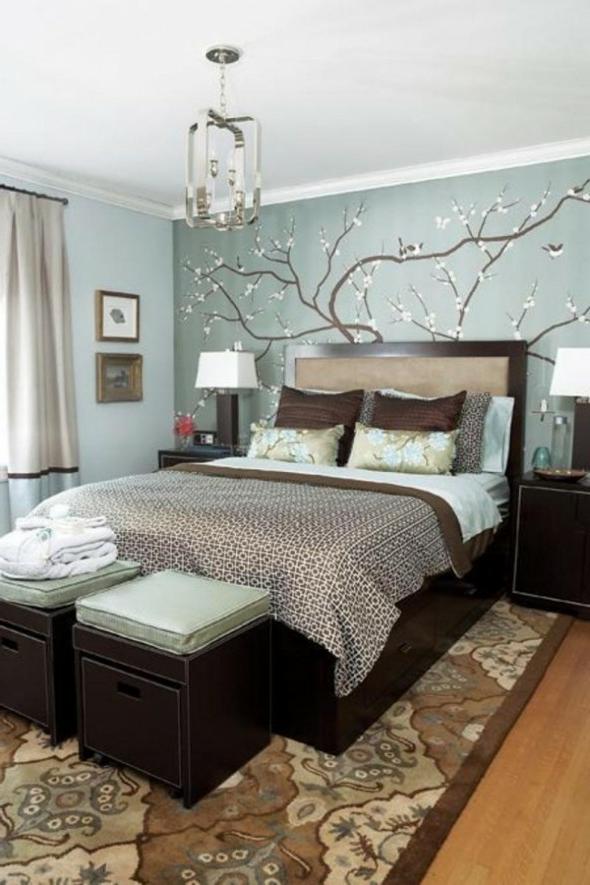 Schlafzimmer Blau Beige Unglaublich On Auf Farben Eine Farbkombination Aus Und 1