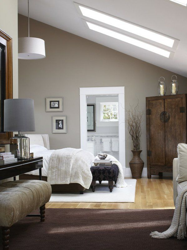 Schlafzimmer Dachschräge Grau Braun Bemerkenswert On Für Die Besten 25 Dachgeschoss Ideen Auf Pinterest 3