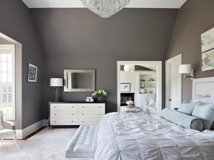 Schlafzimmer Dachschräge Grau Braun Bemerkenswert On überall Wandfarbe Weiß Ideen Für Den Gesamten Wohnbereich 2