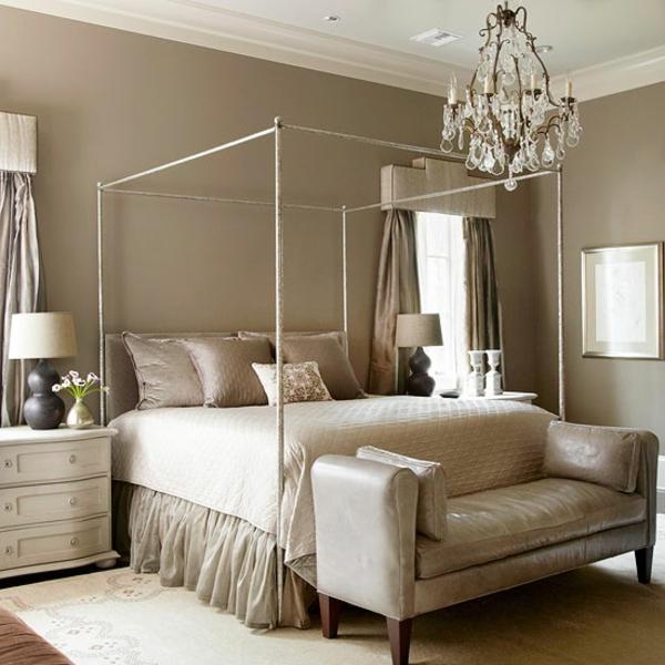 Schlafzimmer Dachschräge Grau Braun Einfach On überall Beispiel Ideen Wandgestaltung 1