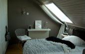 Schlafzimmer Dachschräge Grau Braun