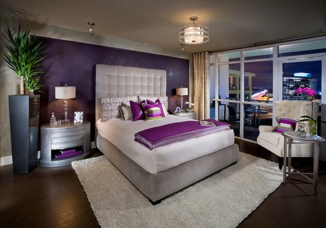 Schlafzimmer Lila Modern On In Farbgestaltung Für Das Geheimnisvolle 1