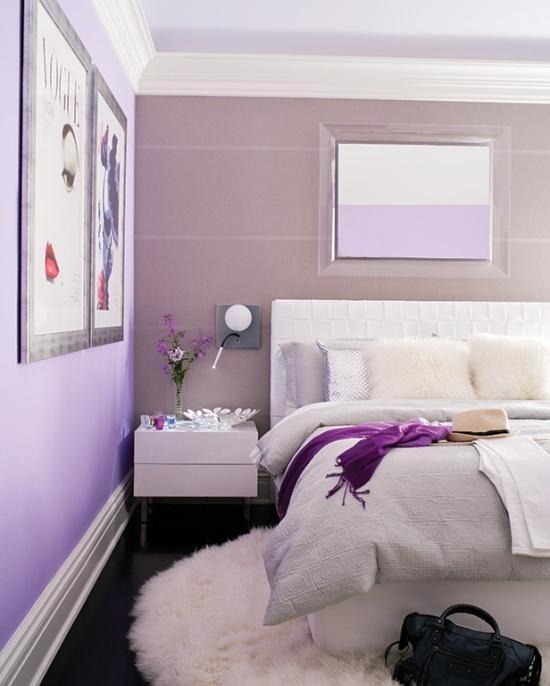 Schlafzimmer Lila Nett On Innerhalb Gestalten 28 Ideen Für Interieur In Fliederfarbe 5