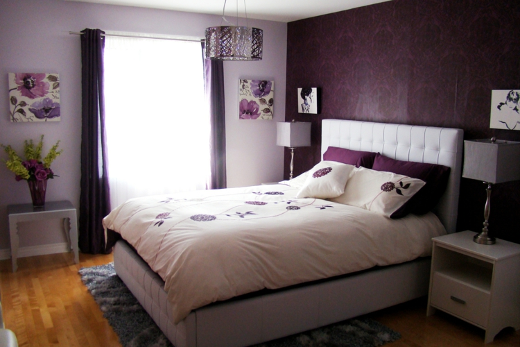 Schlafzimmer Lila Weiß Ausgezeichnet On Beabsichtigt Gestalten 28 Ideen Für Interieur In Fliederfarbe 3