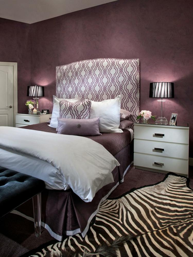 Schlafzimmer Lila Weiß Exquisit On Auf Farbgestaltung Für Das Geheimnisvolle 6
