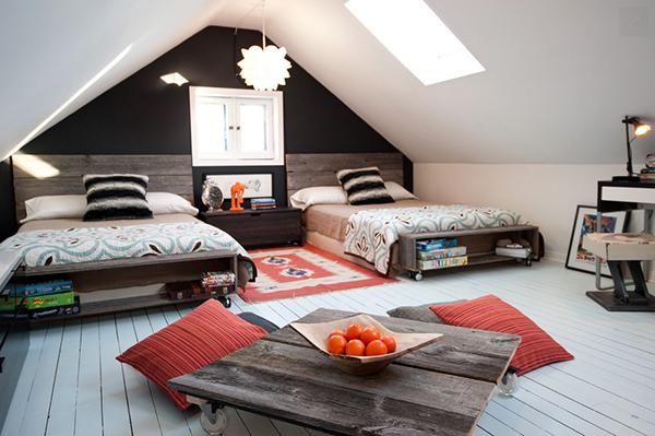 Schlafzimmer Mit Dachschräge Gestaltet Zeitgenössisch On Für Gemütlich Gestalten FresHouse 7