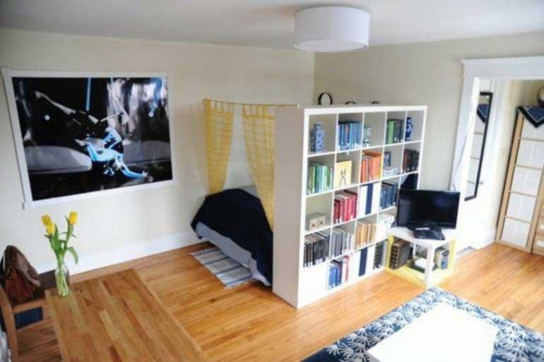 Schlafzimmer Mit Raumteiler Stilvoll On Auf Wohnzimmer Regale Regal Raumtrenner 7