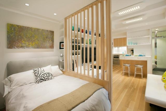 Schlafzimmer Mit Raumteiler Zeitgenössisch On Für 31 Ideen Zur Abgrenzung 4