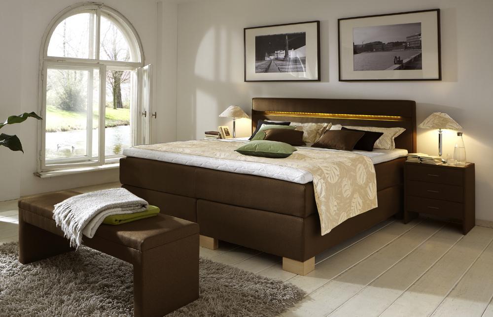 Schlafzimmer Modern Braun Boxspringbett Einzigartig On In Angenehm 8
