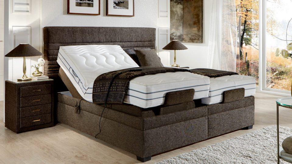 Schlafzimmer Modern Braun Boxspringbett