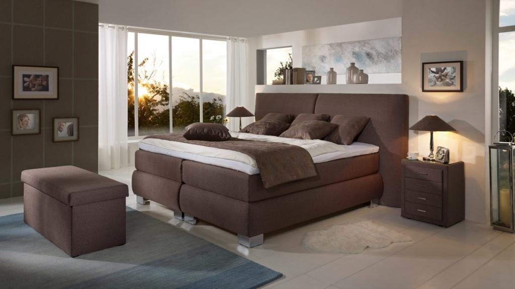 Schlafzimmer Modern Braun Boxspringbett Imposing On Beabsichtigt Mxpweb Com 6