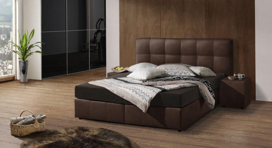 Schlafzimmer Modern Braun Boxspringbett On Für Uncategorized Beige 2