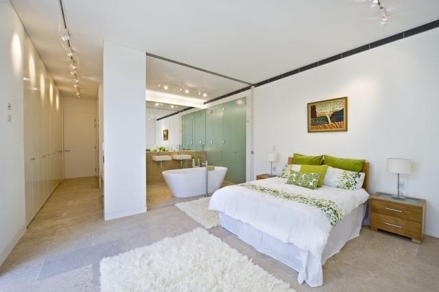Schlafzimmer Modern Mit Badezimmer Wunderbar On überall Stunning Und Bad In Einem Raum Images House Design 8