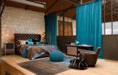 Schlafzimmer Türkis Braun